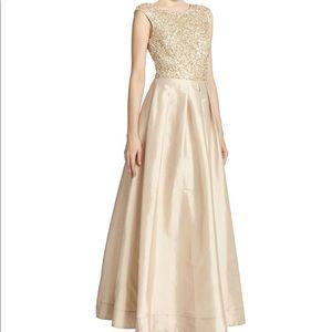 AIDAN MATTOX Beaded Top Taffeta Evening Ball Gown